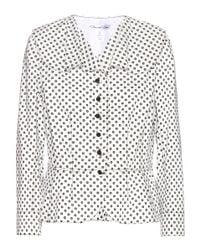 Oscar de la Renta - White Floral-Print Cotton Jacket - Lyst