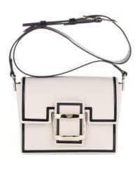 Roger Vivier - White Viv Mini Graphic Leather Shoulder Bag - Lyst