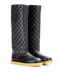 Stella McCartney | Black Brompton Faux-leather Boots | Lyst