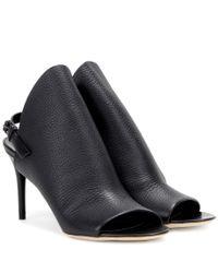 Balenciaga | Black Glove Leather Sandals | Lyst