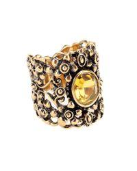 Gucci   Metallic Crystal Embellished Ring   Lyst