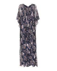 Diane von Furstenberg | Blue Holody Printed Silk Maxi Dress | Lyst