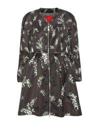 Moncler Gamme Rouge - Black Mauve Printed Coat - Lyst
