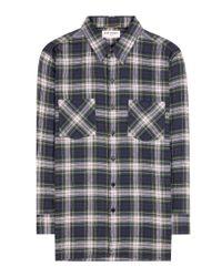 Saint Laurent - Multicolor Check Cotton Shirt - Lyst