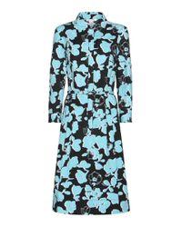 Oscar de la Renta - Blue Cotton Dress - Lyst