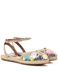 Tabitha Simmons - Natural Dotty Meadow Embroidered Espadrilles - Lyst