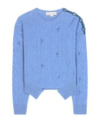 Stella McCartney - Blue Cashmere And Wool Sweater - Lyst