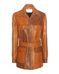 Chloé - Brown Leather Jacket - Lyst
