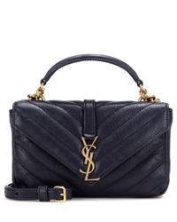 Saint Laurent Blue Collège Chain Wallet Leather Crossbody Bag