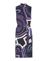 Emilio Pucci - Blue Printed Silk-blend Jersey Dress - Lyst