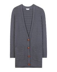 See By Chloé - Blue Cotton Cardigan - Lyst