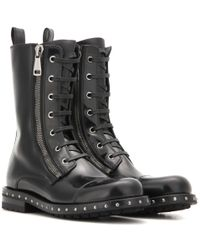 Dolce & Gabbana - Black Leather Ankle Boots - Lyst