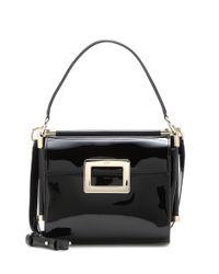 Roger Vivier   Black Miss Viv' Carré Small Patent Leather Shoulder Bag   Lyst