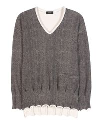 Undercover | Gray Cotton Sweater | Lyst