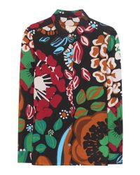 Burberry - Multicolor Printed Silk Blouse - Lyst