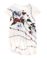 Erdem | Multicolor Jasmine Floral-printed Silk Top | Lyst