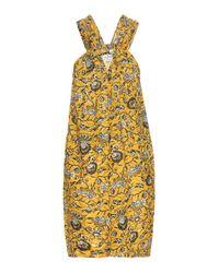Étoile Isabel Marant | Yellow Aba Printed Cotton Dress | Lyst