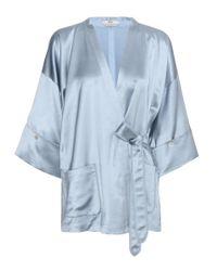 Edun | Gray Wool-blend Satin Kimono Top | Lyst