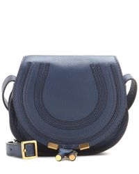 Chloé | Blue Marcie Small Leather Shoulder Bag | Lyst