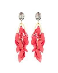 Marni - Red Embellished Clip-on Earrings - Lyst
