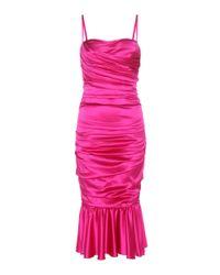 Dolce & Gabbana   Pink Stretch-silk Satin Dress   Lyst