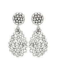 Oscar de la Renta   Metallic Crystal-embellished Clip-on Earrings   Lyst