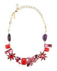 Oscar de la Renta | Red Crystal-embellished Necklace | Lyst