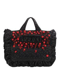 Ganni - Black Auburn Embellished Jacquard Tote - Lyst