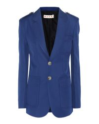 Marni - Blue Three-button Jacket - Lyst