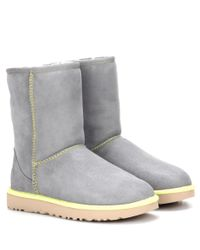 UGG | Gray Classic Short Ii Leather Ankle Boots | Lyst