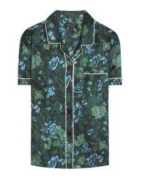 Burberry | Green Printed Pyjama Shirt | Lyst