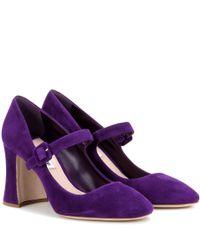 Miu Miu - Purple Suede Pumps - Lyst