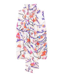 Emilio Pucci - White Printed Silk Blouse - Lyst