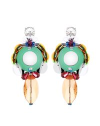 Miu Miu | Multicolor Embellished Clip-on Earrings | Lyst