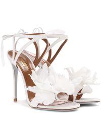 Aquazzura - Multicolor Flora 105 Embellished Sandals - Lyst