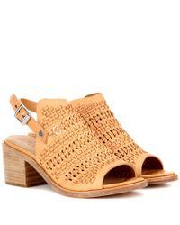 Rag & Bone | Brown Wyatt Mid-heel Leather Sandals | Lyst