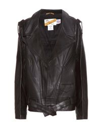 Vetements - Black X Schott Leather Biker Jacket - Lyst
