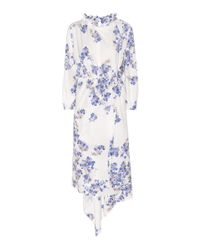 Vetements | White Printed Crêpe Dress | Lyst