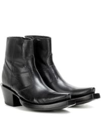 Vetements | Black X Lucchese Bootmaker Leather Ankle Boots | Lyst