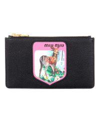Miu Miu | Multicolor Printed Leather Clutch | Lyst