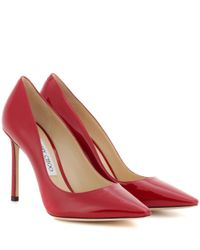 Jimmy Choo | Red Romy 100 Patent Leather Pumps | Lyst