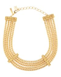 Oscar de la Renta - Metallic Chain Necklace - Lyst