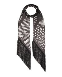 Rockins - Black Guinea Blow Up Classic Skinny Printed Silk Scarf - Lyst