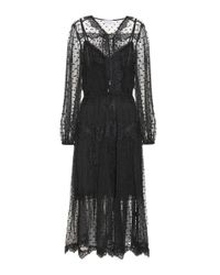 Zimmermann | Black Oleander Lattice Dress | Lyst