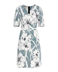 Marni | Blue Floral-printed Cotton Dress | Lyst