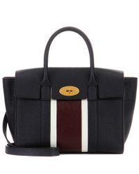 Mulberry   Blue Bayswater Small Leather Tote   Lyst