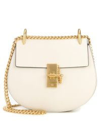 Chloé | White Drew Small Leather Shoulder Bag | Lyst