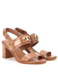 Tory Burch - Brown Gigi 65 Two Band Leather Sandals - Lyst