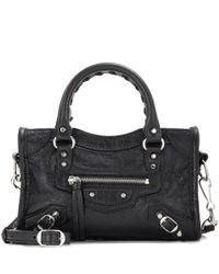Balenciaga - Black Classic Nano City Shoulder Bag - Lyst