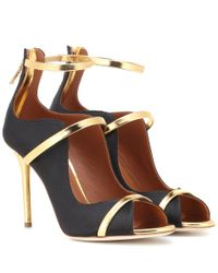 Malone Souliers Black Mika Strappy Pumps